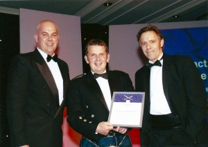 image of an award being presented