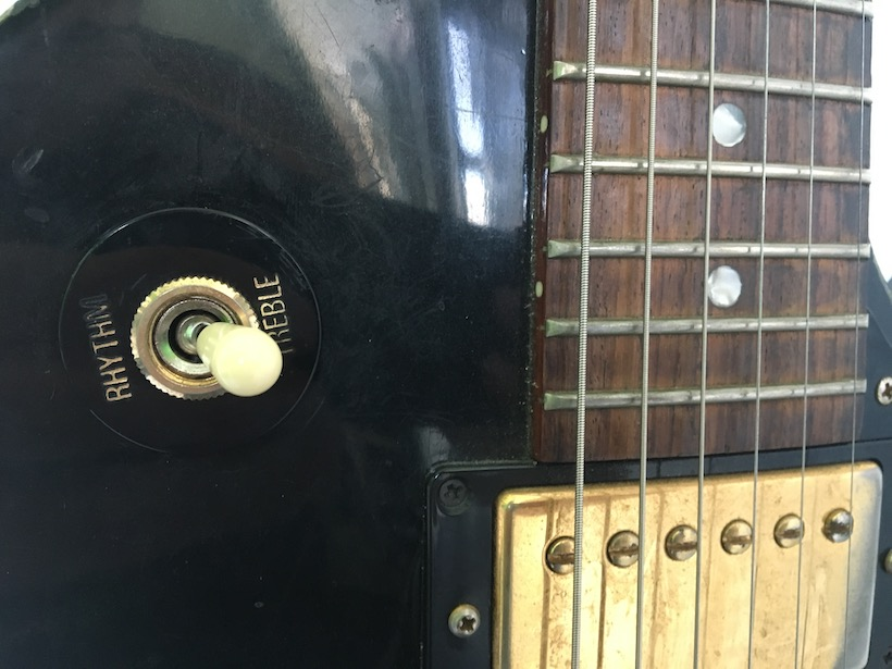 lifestyle rewire - image of faulty Les Paul Pickup switch which is a metaphor for an incomplete lifestyle