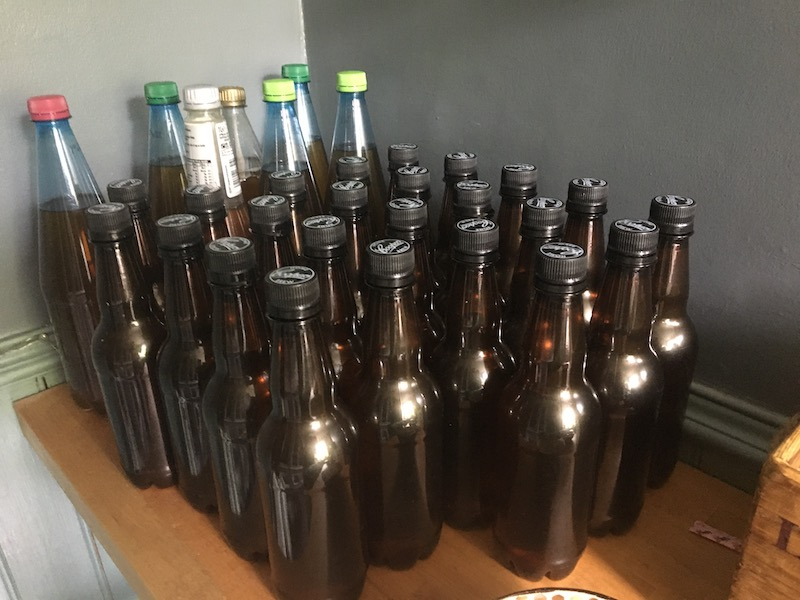 What You Did In Lockdown - lots of bottles of home made beer - a skill learned during lockdown