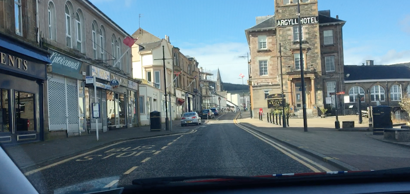 An image of the deserted town of Dunoon in June 2020 during corona virus lockdown. Show why many will need to pivot out of lockdown into something new